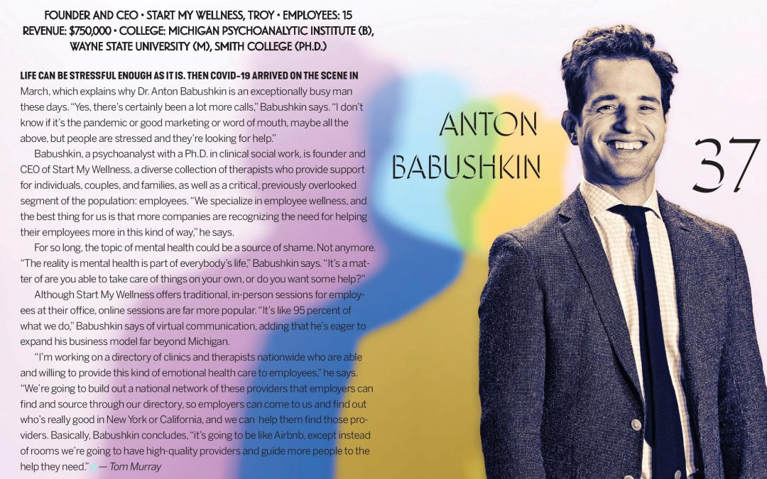 Detroit Business Class of 2020 30 in their Thirties Feature: Dr. Anton Babushkin